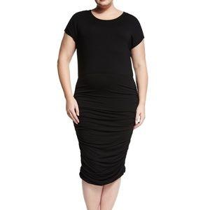 Make Offer Vince Camuto Black Shirred Dress 2X